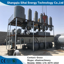 Cheapest Price for Tyre Pyrolysis Oil Distillation Plant Vacuum Waste Tire Oil Refining To Diesel Plant export to British Indian Ocean Territory Wholesale