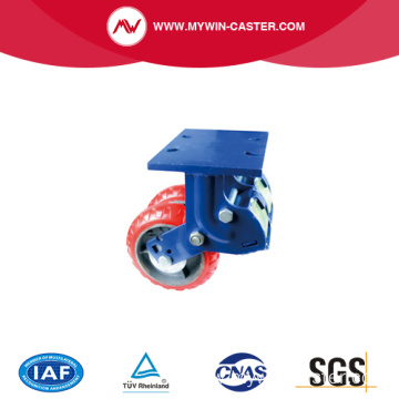 dual wheels shock absorption caster