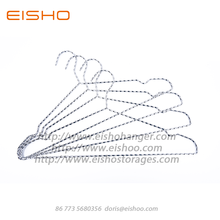 Hot sale for China Metal Pants Hanger,Chrome Metal Hangers,Chrome Coat Hangers Supplier EISHO Stainless Steel Metal Gold Wire Hanger supply to United States Factories