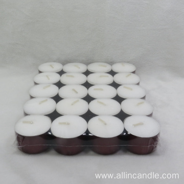 Unscented 14g white tealight candle 4hours