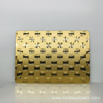Safety 2mm Golden Acrylic Fancy Mirror Plastic Sheet