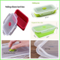 New Design Silicone Folding Lunch Box