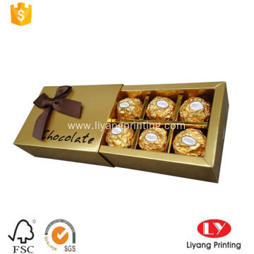 Fancy paper chocolate packaging box gift