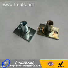 Tee Nuts Furniture Stampings Two Holes Square Bottom