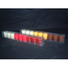 Set of 9 Mixed Color Scented Votive Candle