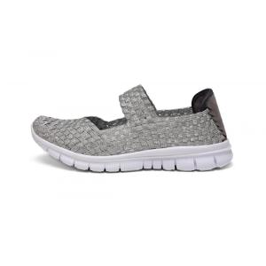 Silver Woven Upper Low-cut Outdoor Dance Shoes
