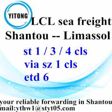 Shantou to Limassol Sea Freight Shipping Timeble
