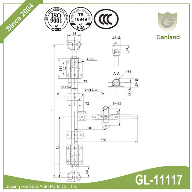 Truck Trailer Spare Parts GL-11117