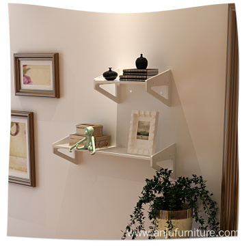 Wooden groceries free of punch wood wall hanging shelf