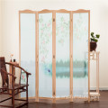 Traditional Wooden Folding Screen Room Divider 4 panels For Decoration Or Partition Room