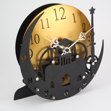 Castle On Moon Gear Desk Clock