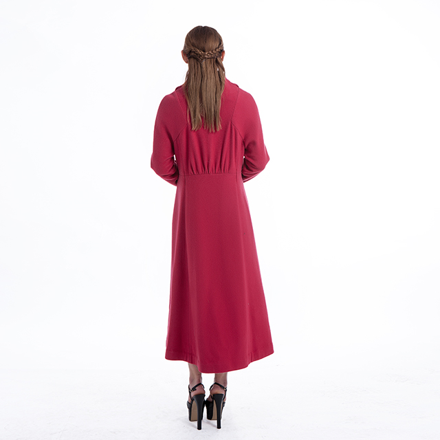 Cashmere Overcoat Rose Red