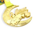 Free drawing of chinese design light gold medal