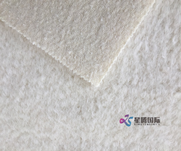 Super Soft White Alpaca Fabric For Garment