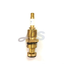 Brass valve cartridge for stop valves