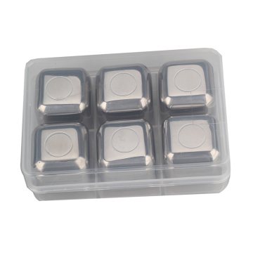 Set of 6 Reusable Non-Melting Ice Rocks