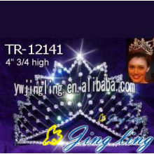 Rhinestone beauty queen crowns for girls