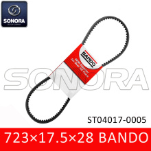 Special for Offer Bando Scooter Belt 669 18 30, Aerox Belt 751 16.5, CVT Drive Belt 788 17 28 from China Supplier BANDO V BELT 723×17.5×28 SCOOTER V BELT (P/N:ST04017-0005) ORIGINAL QUALITY export to Spain Supplier