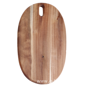 Oval shape cutting board acacia wood