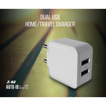 2 Ports USB With Cable Portable Travel Charger