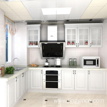 High Gloss Finish Kitchen Cabinet with American Style