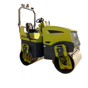 New portable ride-on double drum road roller