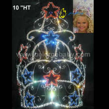 Large custom colored patriotic star crowns