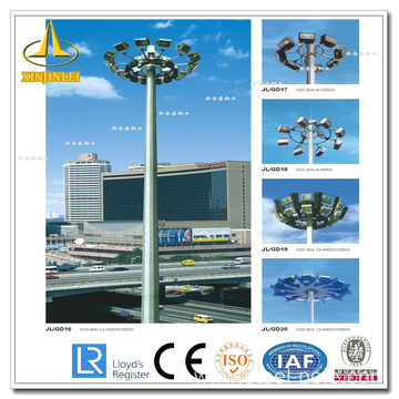 Low Cost for 30m High Mast Pole Octagonal High Mast Flood Lighting Poles supply to Georgia Supplier