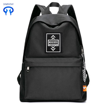 Solid color backpack for men and women
