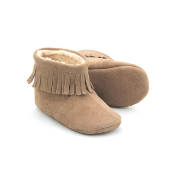 Warm Handmade Leather Baby Winter Boot