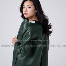 Reversible Double-coloured Sheepskin Leather Coat