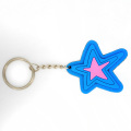 Soft PVC 3D Cartoon Star Promotional Key Chains