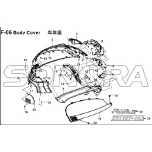 F-06 Body Cover for XS125T-16A Fiddle III Spare Part Top Quality