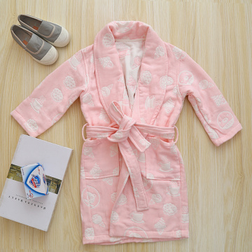 Cotton Toddler Bathrobe House Pink Robe Bathroom Robe