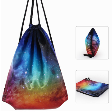 Sublimation Trendy Fashion Hot Selling Polyester Kordelzug Rucksack Tasche