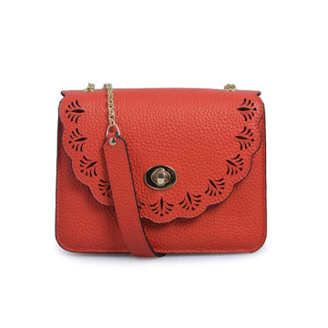 Small Leather Satchel For Lady Purse Flap bag