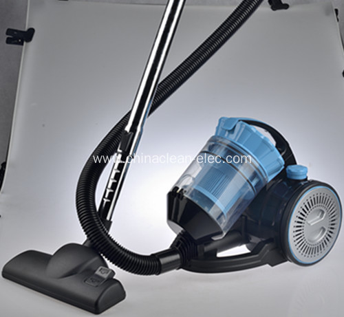 New blue vacuum cleaner with multi-cyclonic filter