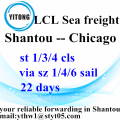 Shantou to Chicago LCL Consolidation Transport Services