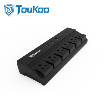 6 Gang American outlet extension USB Socket