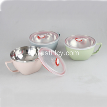 Colorful Stainless Steel Food Container With Lid