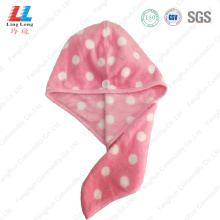 Spots hair quickly dry attractive towel