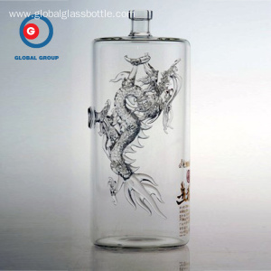 Wholesale Distributors for Craft Glassware Bottle Wuliangye Glass Bottle of Dragon Craft Product export to Qatar Supplier