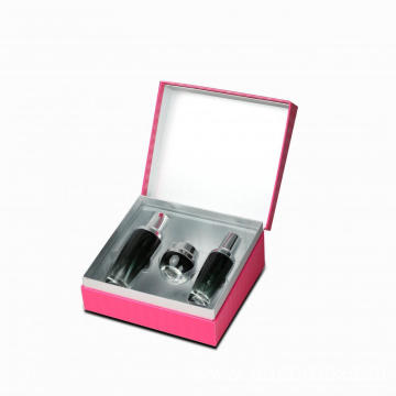 Rigid Silver Shoulder Cosmetic Gift Boxes With Lids