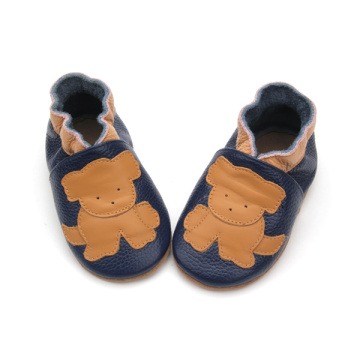 Best selling Cartoon Real Leather Baby Shoes