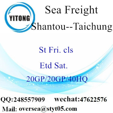 Shantou Port Sea Freight Shipping To Taichung