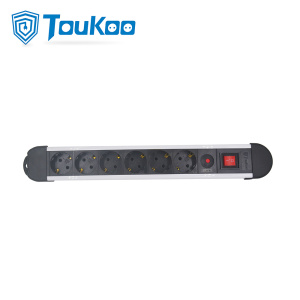 Best Quality for 6 Way Power Strip Extension 6 outlet German electric socket with overload protection export to Spain Factories