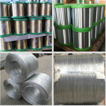 Galvanized round wire scourer wire