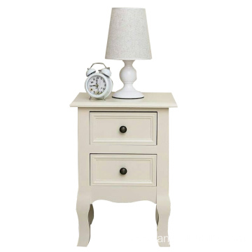 China for Bedside Cabinets furniture bedroom organizer white ivory bedside table night stands export to Vietnam Wholesale