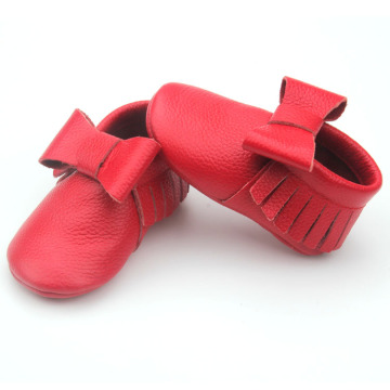 Hot Selling Bowknot Baby Kids Moccasins