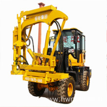 Road guardrail drilling machine Loaded guardrail pile driver